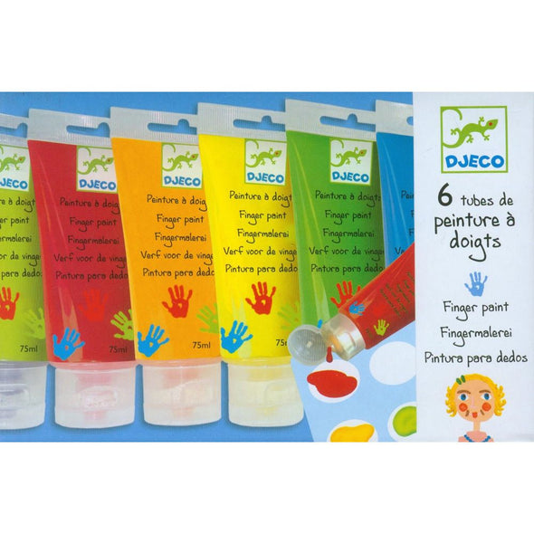 Paints - finger paints 6 tubes