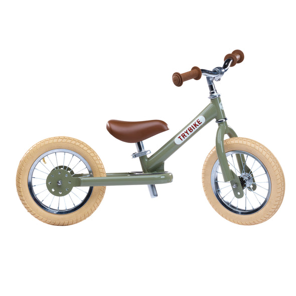 TRYBIKE 2-IN-1 STEEL VINTAGE - GREEN