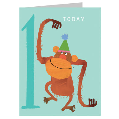 Mini Age 1 Orangutan Card