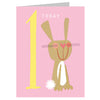 Mini Age 1 Birthday Bunny Card