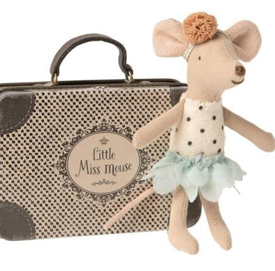MAILEG - MISS MOUSE IN SUITCASE - LITTLE SISTER