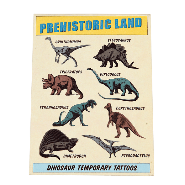 Tattoos - Prehistoric Land Temporary Tattoos (2 Sheets)
