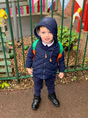 Gabriel on his first day of school