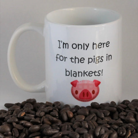 Pigs in blankets Christmas mug