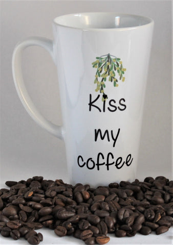 Kiss my coffee Christmas latte mug