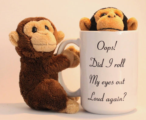 Oops! Rolled my eyes mug