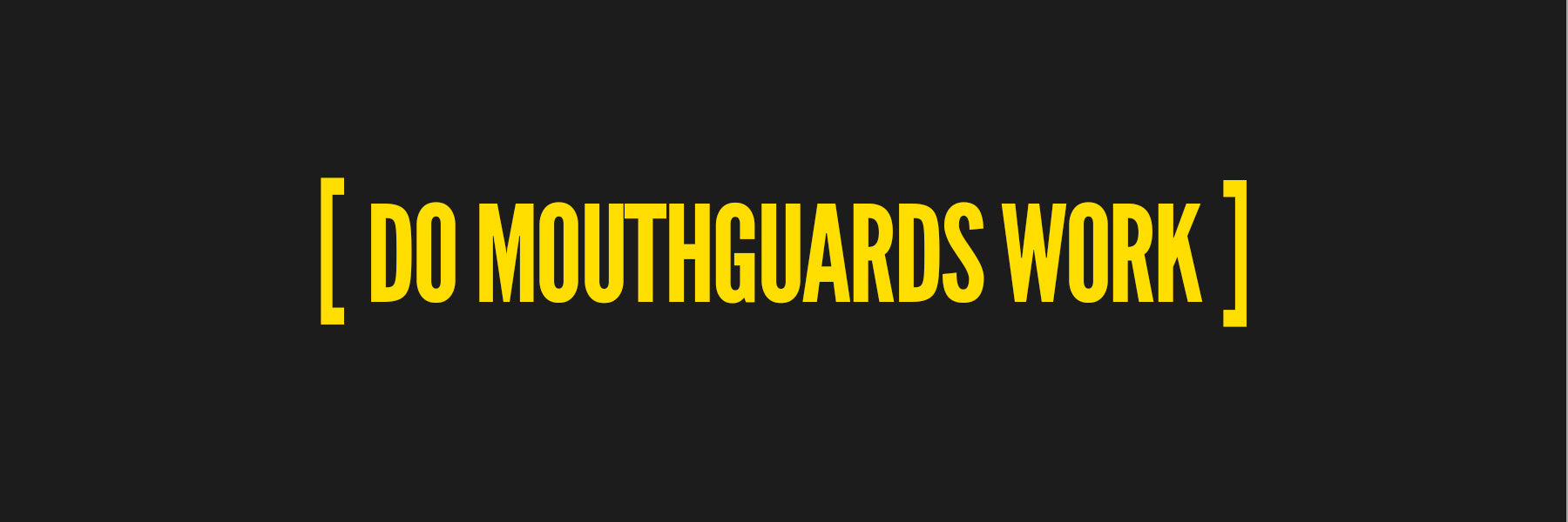 Do Athletic Mouthguards Work