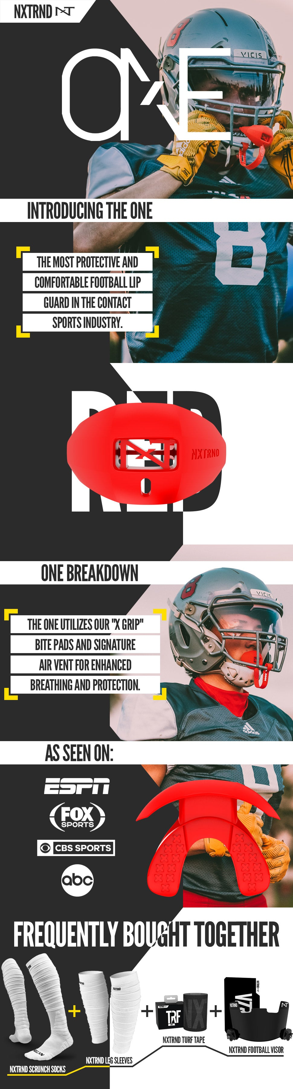 Red Football Mouthguard