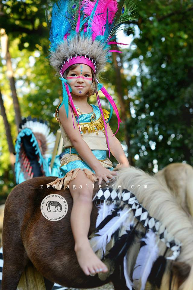 Kids Tribal Princess - Peacock Feather Crown