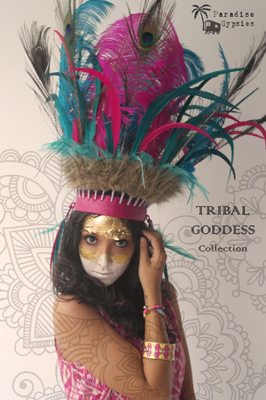 Tribal Goddess - Peacock Feather Crown