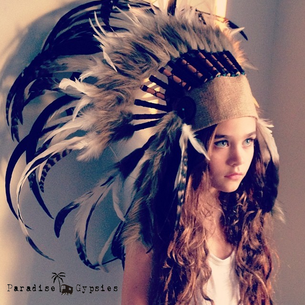 Kids 'Sticks & Stones' Hessian Feather Headdress