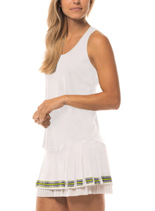 Lucky in Love Back Mesh Rib Tank CT664
