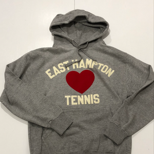 East Hampton Tennis James Hoodie Big Heart Grey/White