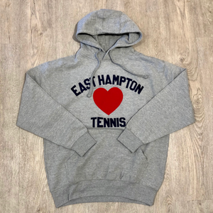 East Hampton Tennis James Hoodie Big Heart Gray/Navy