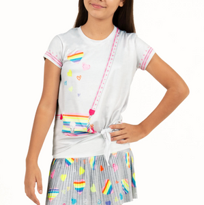 Lucky in Love Rainbow To Go Tie Knot Tee T198-B3