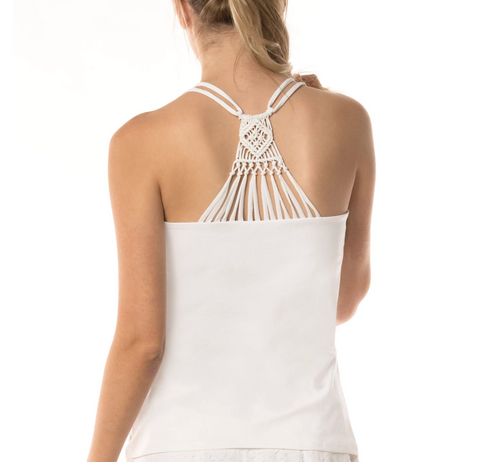 Lucky in Love Women Macrame Cami CT477