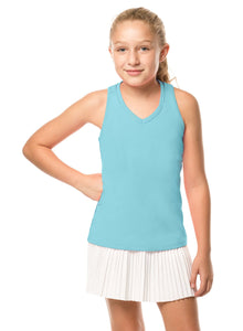 Lucky in Love Girls V-Neck Cut Out Tank T207