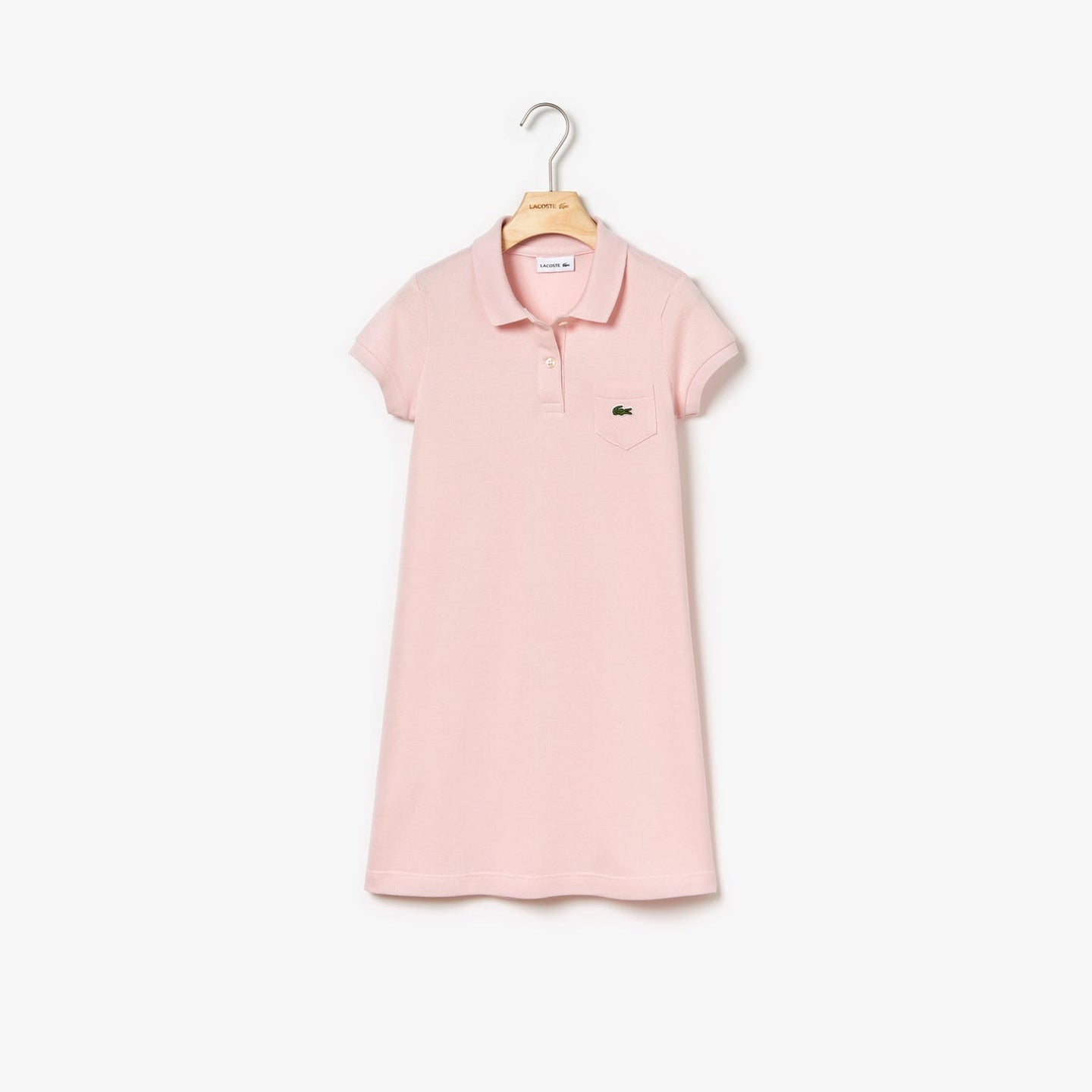 Lacoste Girl's Classic Pique Dress with Pocket EJ2816
