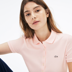Lacoste Women's Slim Fit Stretch Pique Polo PF7845