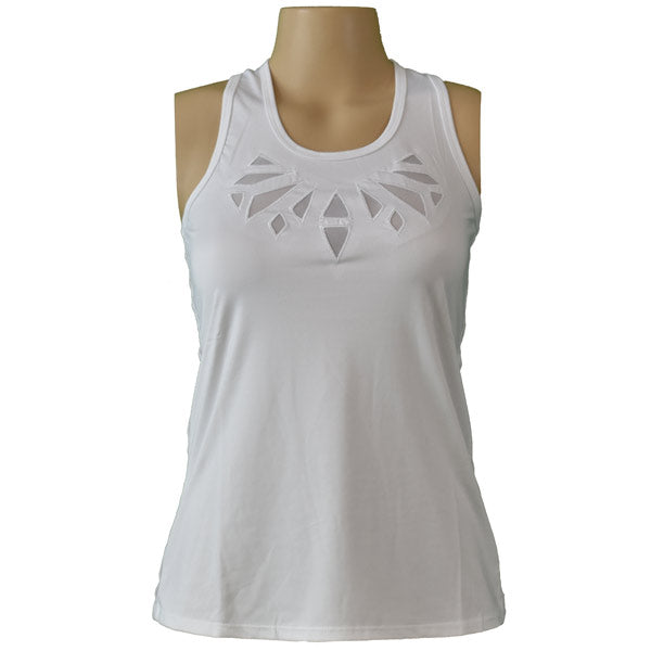 Lucky in Love Womens Cutwork Appliue Tank CT478