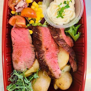 OnTheGo - Blackened steak with rosemary potatoes and lemon mayo