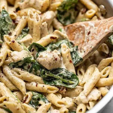 OAP Creamy Chicken and Pesto Pasta