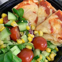 Flatbread pizza and Salad-LDNutrition