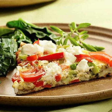 Feta cheese and red pepper frittata