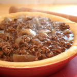 Minced Beef with Onion Gravy