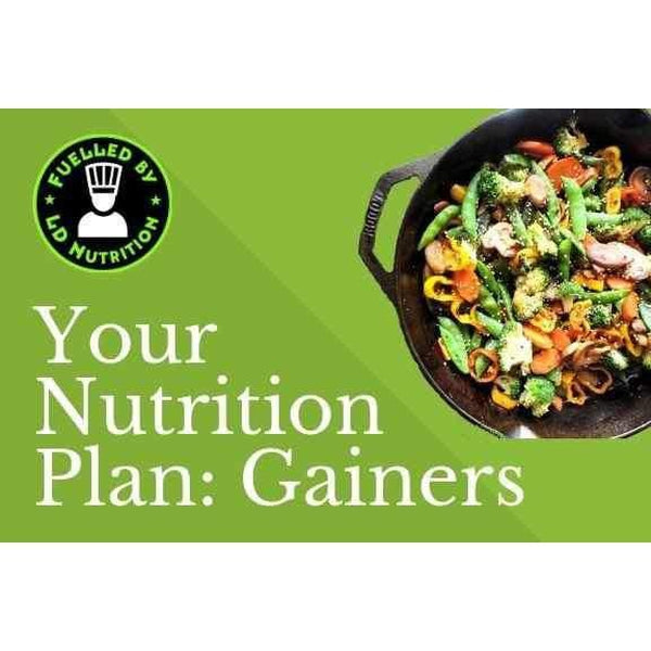 LD Nutrition Gainers Package Nutrition Plan