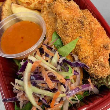OnTheGo - Breaded Chicken, Spiced Wedges, Piri Sauce and Slaw