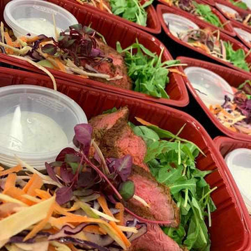 OnTheGo - Seared Tandoori Steak with Turmeric Rice , Spicy Slaw and Mint Yoghurt