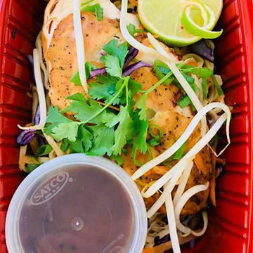 OnTheGo -  Thai chicken, Noodle salad,  and black bean sauce