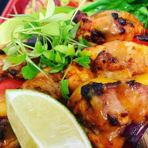 OnTheGo - Thai chicken skewers with Noodle salad-LDNutrition