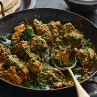 Beef Saag served with Dirty Rice-LDNutrition