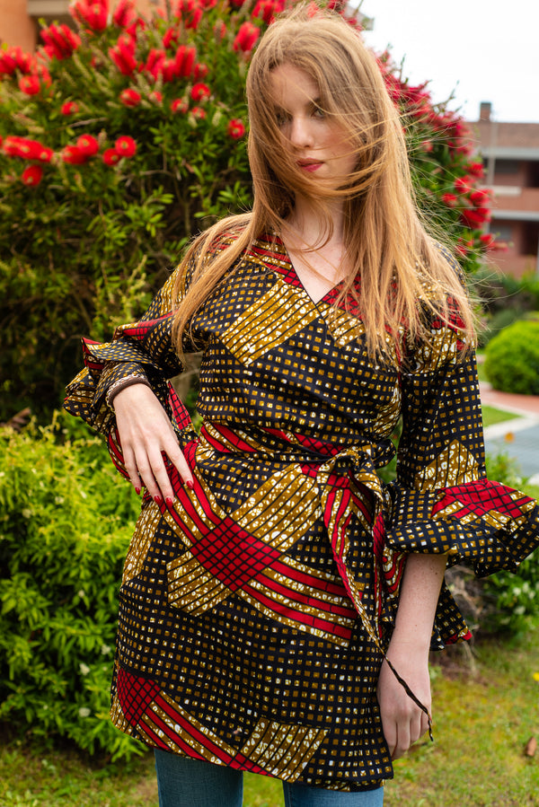 African print- Franci Dress Jacket