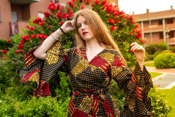 African print Ankara  dress jacket