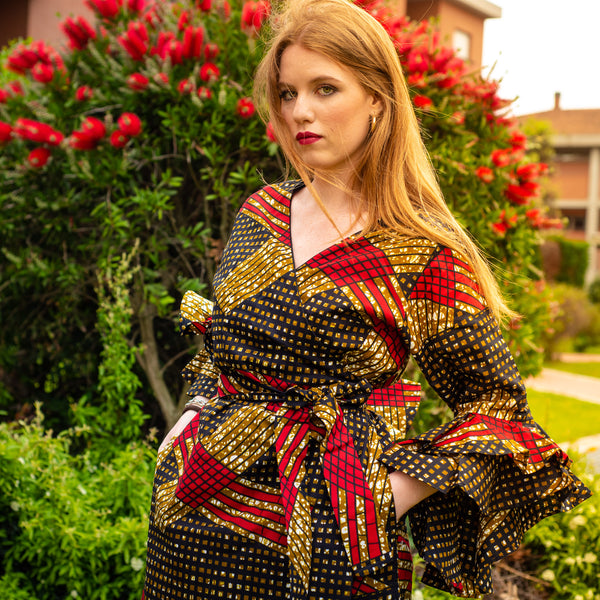 TemAD African print Ankara  dress jacket