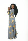 Christabel maxi dress - grey