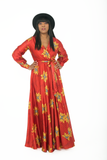 Christabel maxi dress - red