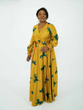 Christabel maxi dress - yellow