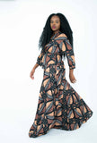Linea di Africa - wrap top and maxi skirt set