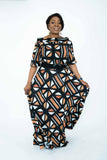 Linea di Africa - bardot top and maxi skirt set