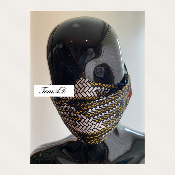 TemAD collections 3d african print ankara face mask made in uk