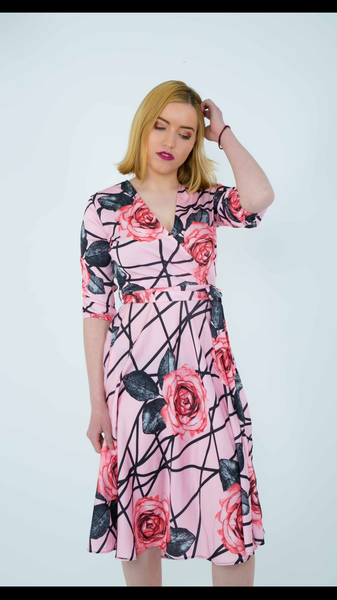Christabel wrap dress- pink