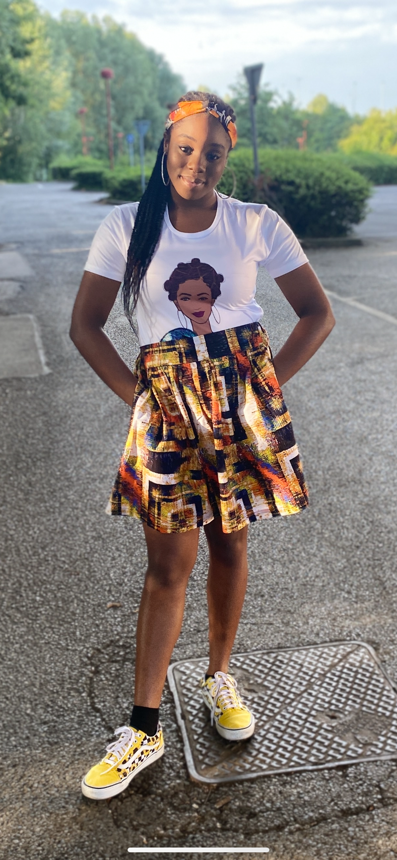 BAE collection temad tshirt african print ankara face 3d tshirt