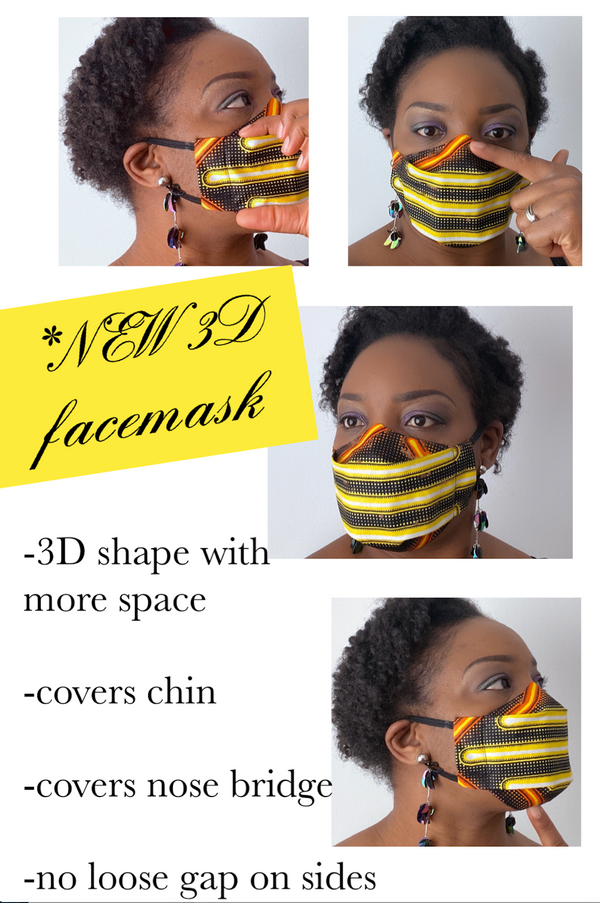 TemAD African print Ankara Facemask made in uk