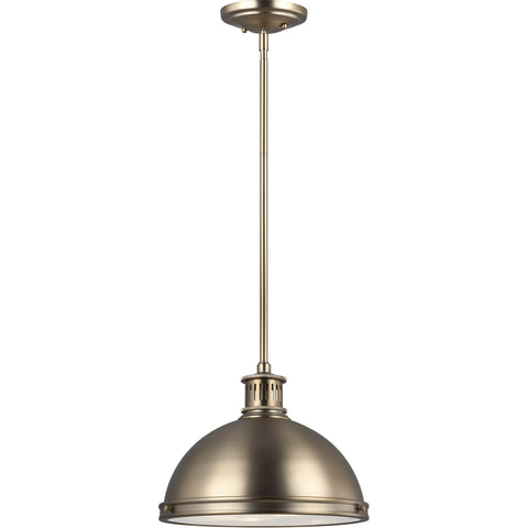 Pratt Street 2 Light 13 inch Satin Brass Pendant Ceiling Light