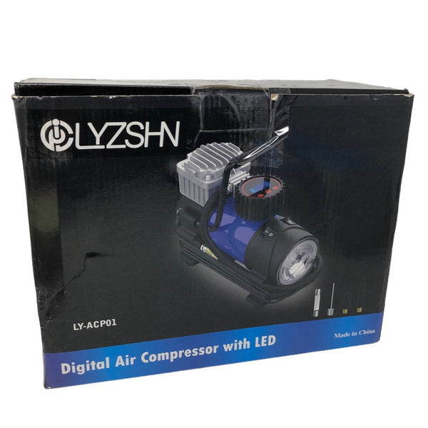 LYSNSH 12V DC Portable Air Compressor - 150 PSI Digital Tire Inflator Tire Pump with Pressure Gauge