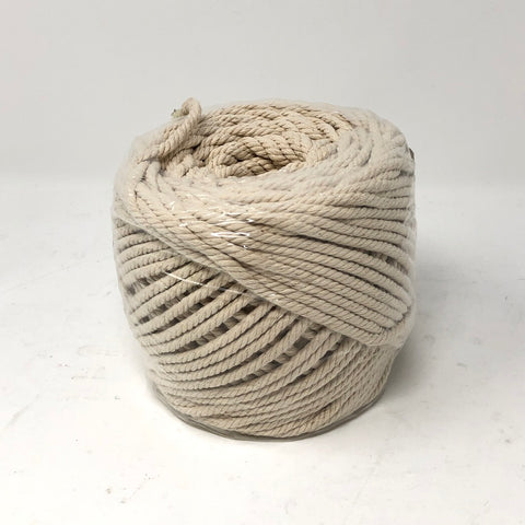 SANGTQ 4-Strand Twisted Cotton Cord Rope 4mm 109 yards